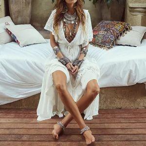 Dresses & Skirts - 5 🌟 Fave Valladolid | Boho Crochet Tiered Dress